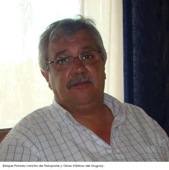 Ministro de Transporte y Obras Públicas del Uruguay, Enrique Pintado
