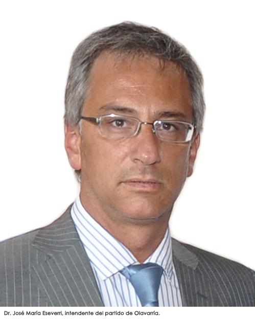 Intendente del partido de Olavarría, Dr. José María Eseverri.
