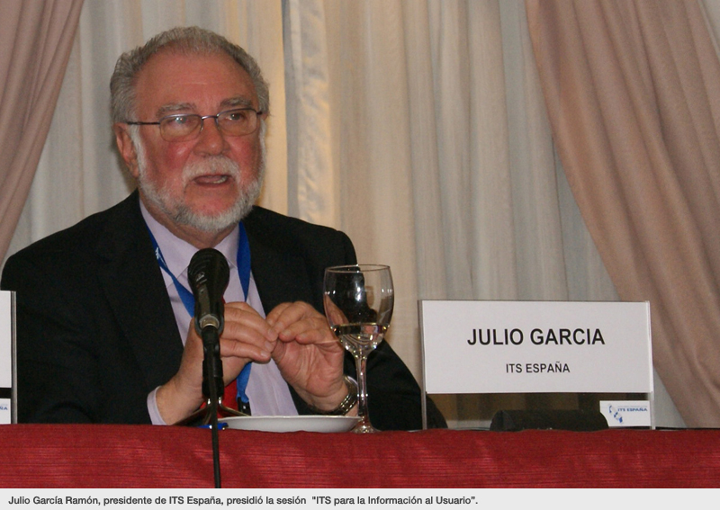 """Julio García Ramón, presidente de ITS España, presidió la sesión """"ITS para la Información al Usuario""""."""