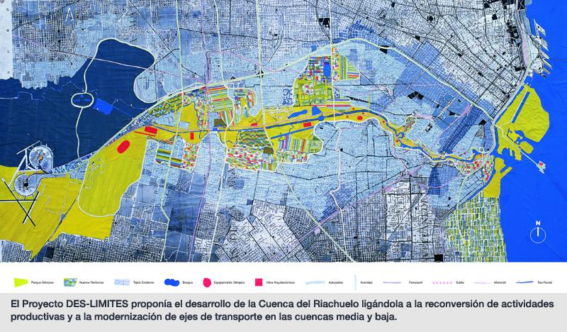 El Proyecto DES-LIMITES proponía el desarrollo de la Cuenca del Riachuelo ligándola a la reconversión de actividades productivas y a la modernización de ejes de transporte en las cuencas media y baja.