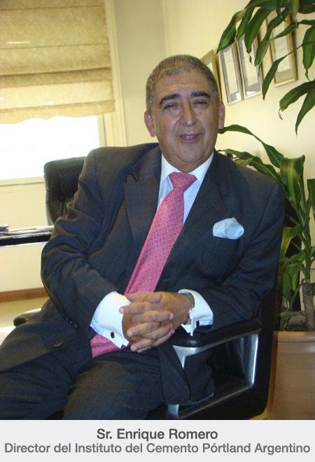 Enrique Romero, director del Instituto del Cemento Pórtland Argentino.