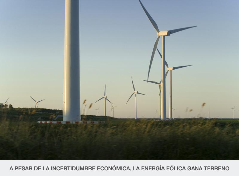 A PESAR DE LA INCERTIDUMBRE ECONÓMICA, LA ENERGÍA EÓLICA GANA TERRENO